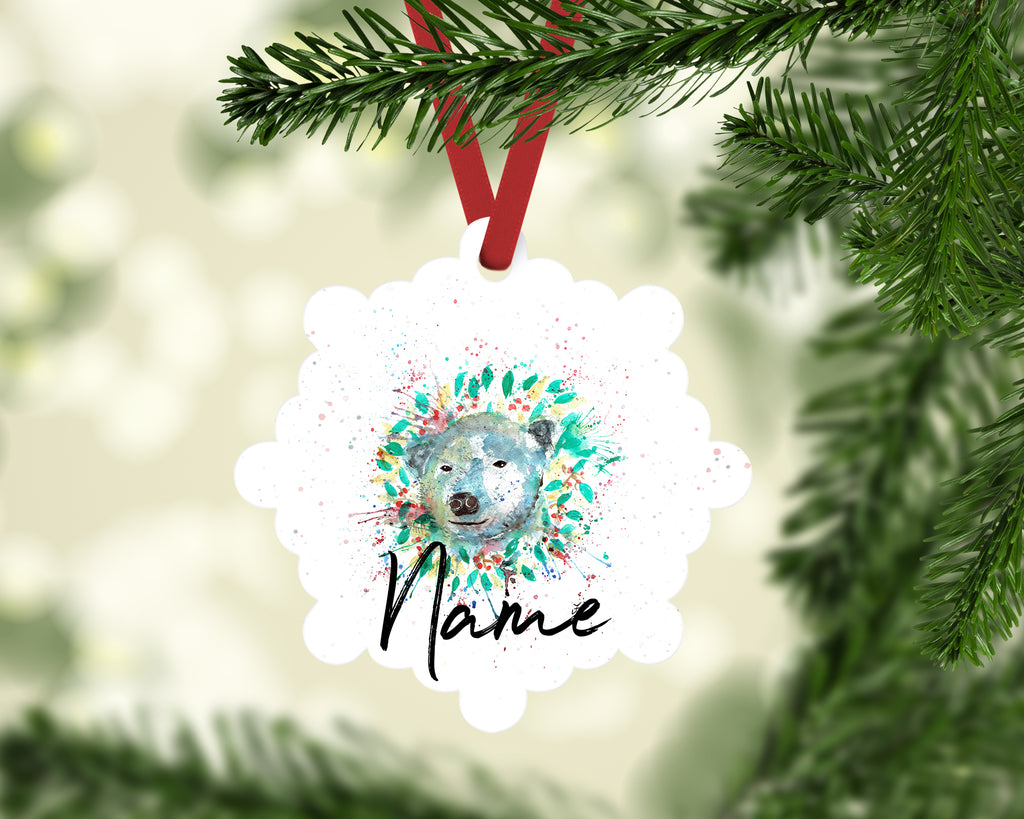 """Polar"" Personalised Aluminium Christmas Decoration"