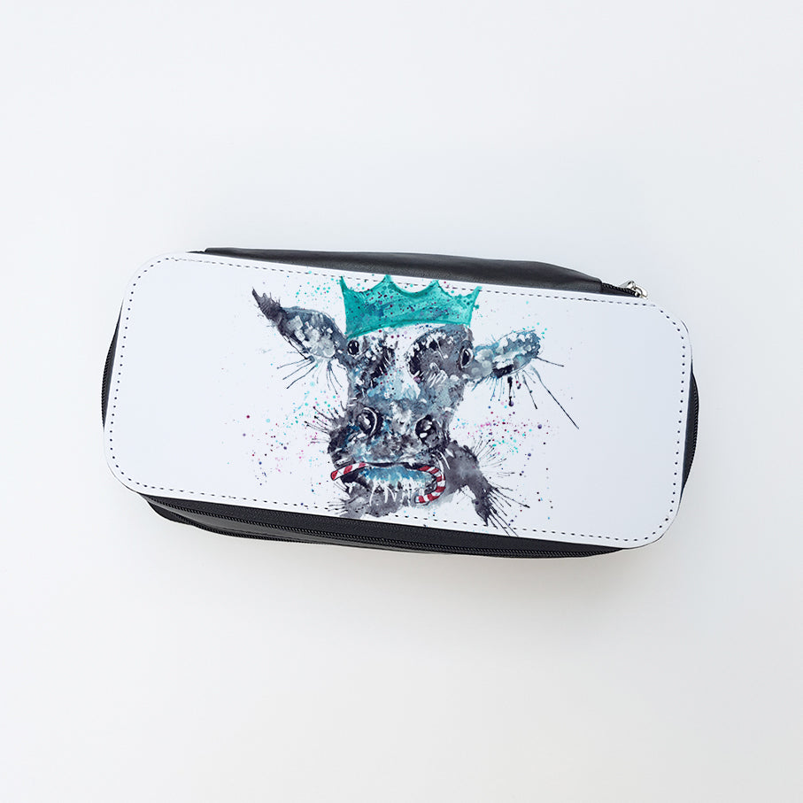 """Christmas Moo"" Ladies Makeup Bag"