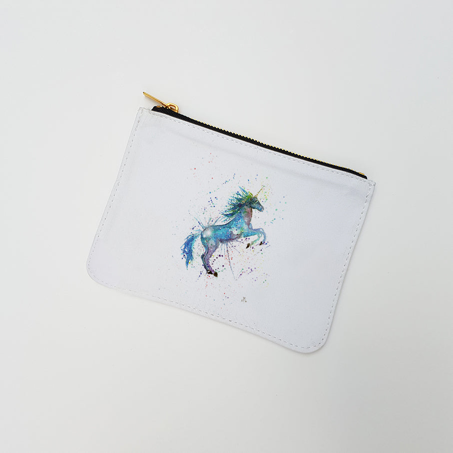 """Blue Unicorn"" Large Coin Pouch"