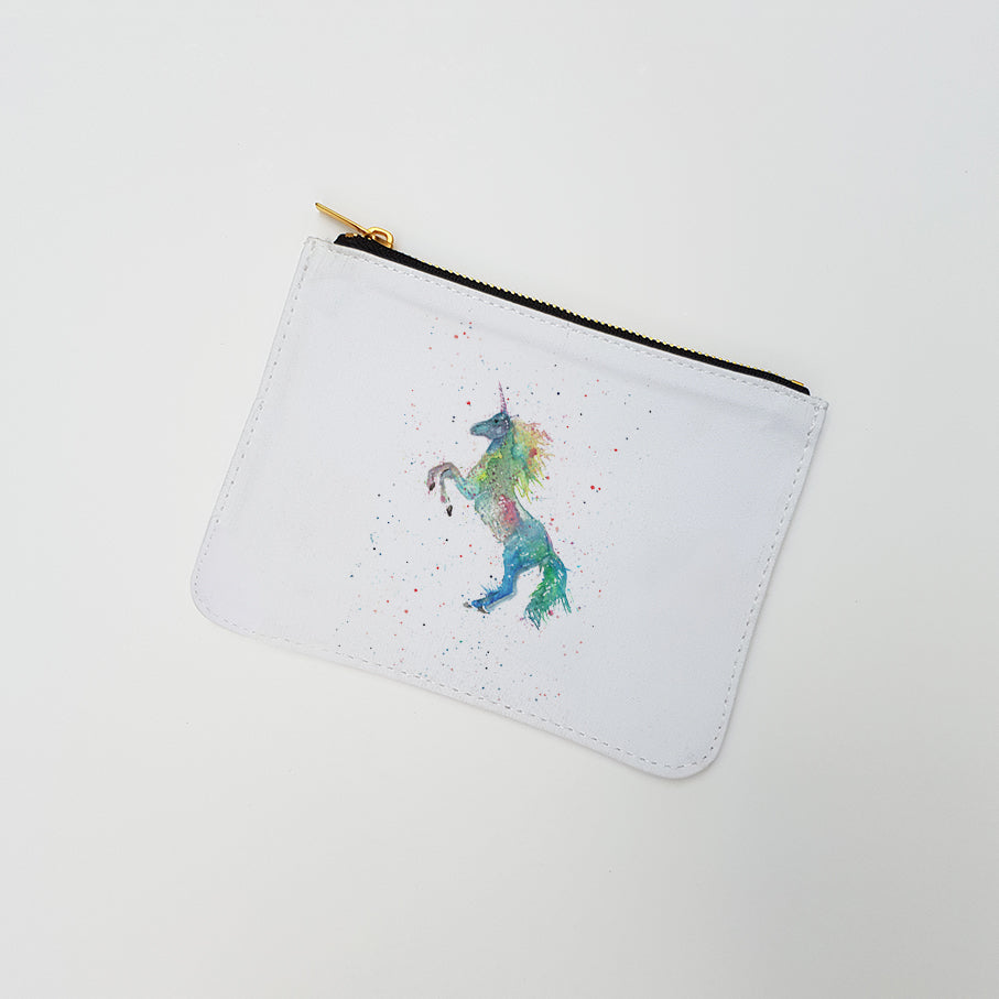 """Rainbow Unicorn"" Large Coin Pouch"