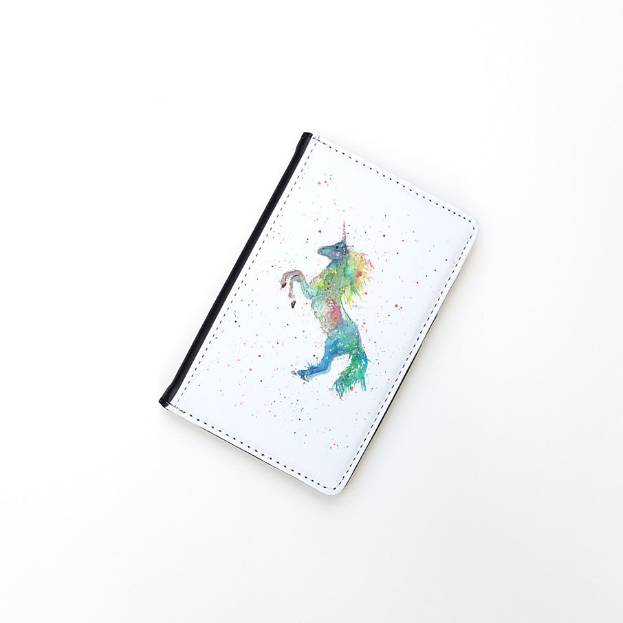 """Rainbow Unicorn"" Passport Holder"