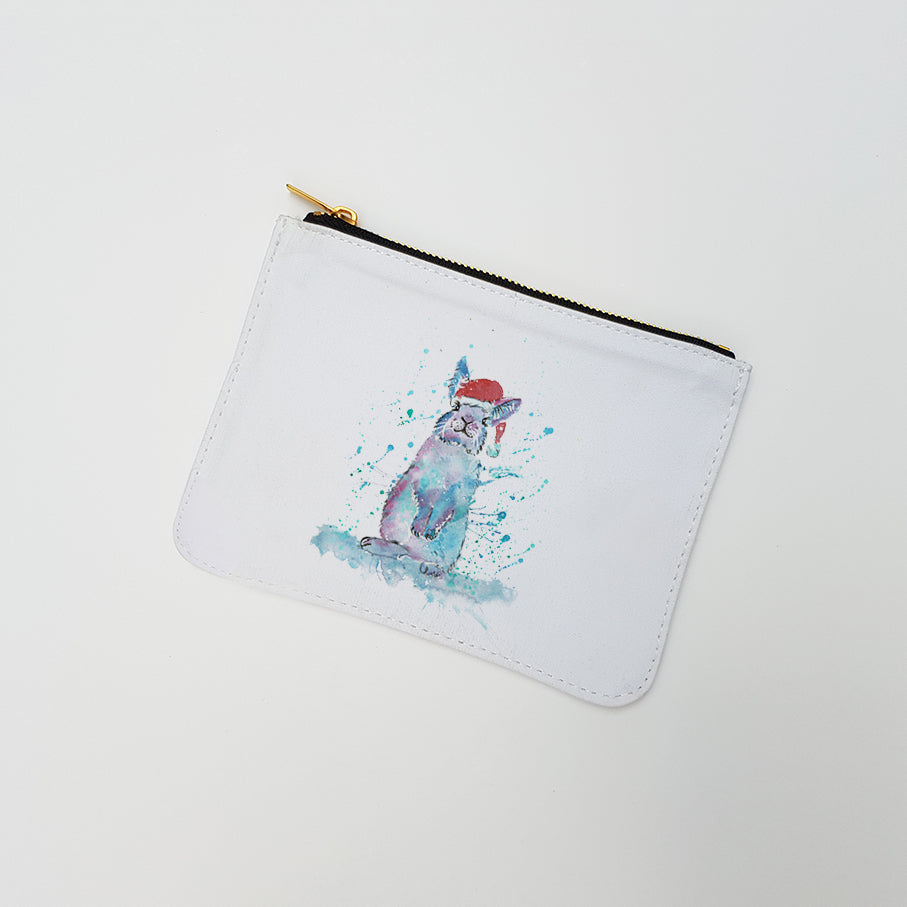 """Christmas Bunny"" Large Coin Pouch"