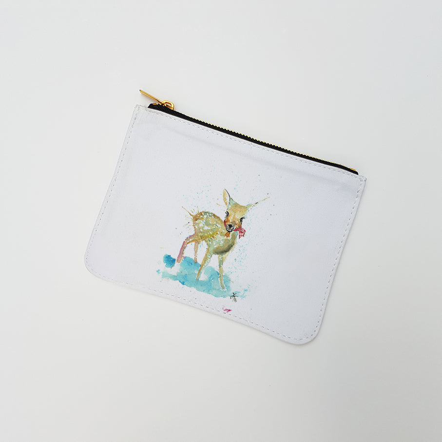 """Oh Deer"" Large Coin Pouch"