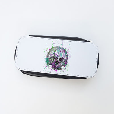 """Purple Skull"" Ladies Makeup Bag"