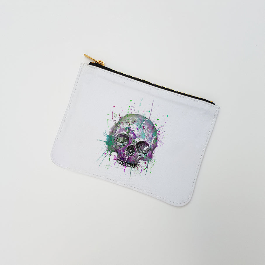 """Purple Skull"" Large Coin Pouch"
