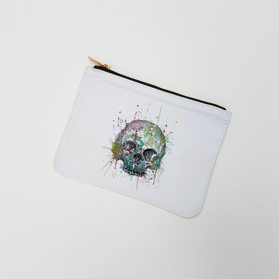 """Blue Skull"" Large Coin Pouch"