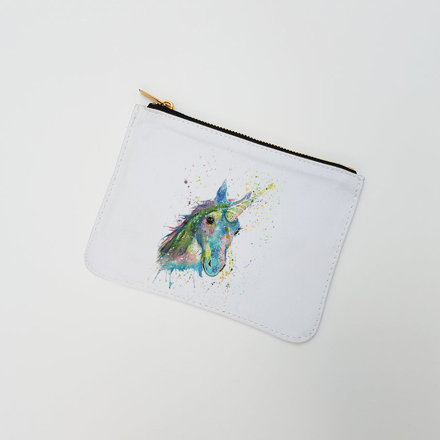 """Patty Unicorn"" Large Coin Pouch"