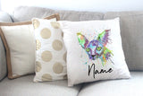 """Brian Sphynx"" Personalised Cushion Cover"