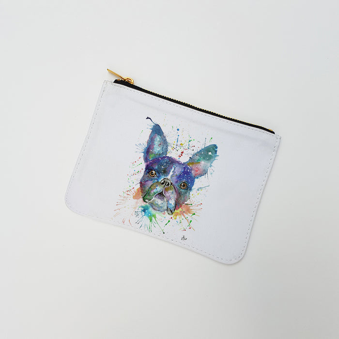 """Bruno Boston Terrier"" Large Coin Pouch"