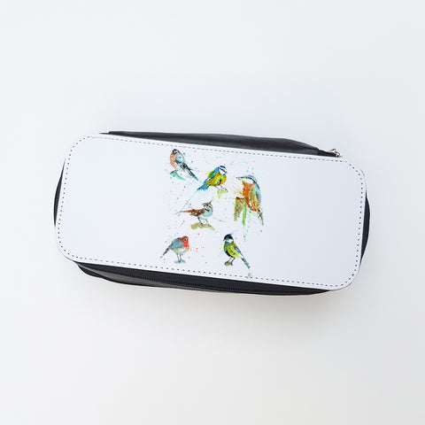 """Brit Birds"" Ladies Makeup Bag"