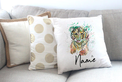 """Franklin Tiger Cub"" Personalised Cushion Cover"