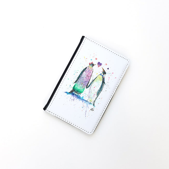 """Valentine Penguins"" Passport Holder"