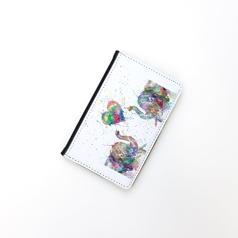 """Romantic Elephants"" Passport Holder"