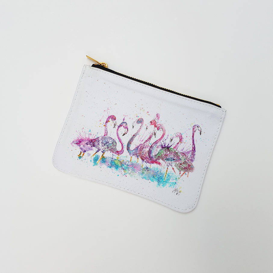 """Flamboyance Flamingo"" Large Coin Pouch"