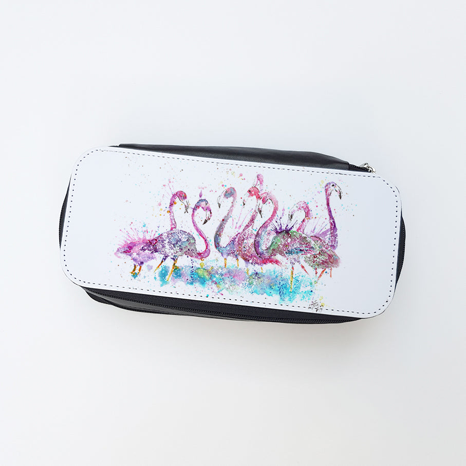 """Flamboyance Flamingo"" Ladies Makeup Bag"