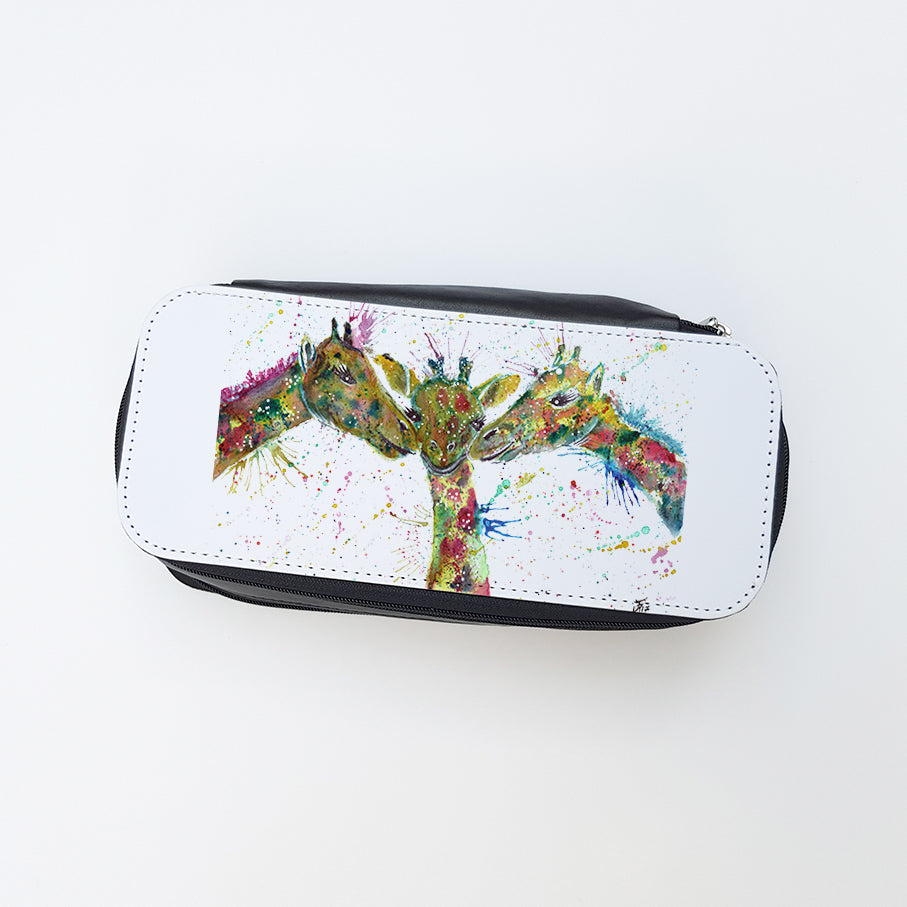"""Together Giraffe"" Ladies Makeup Bag"
