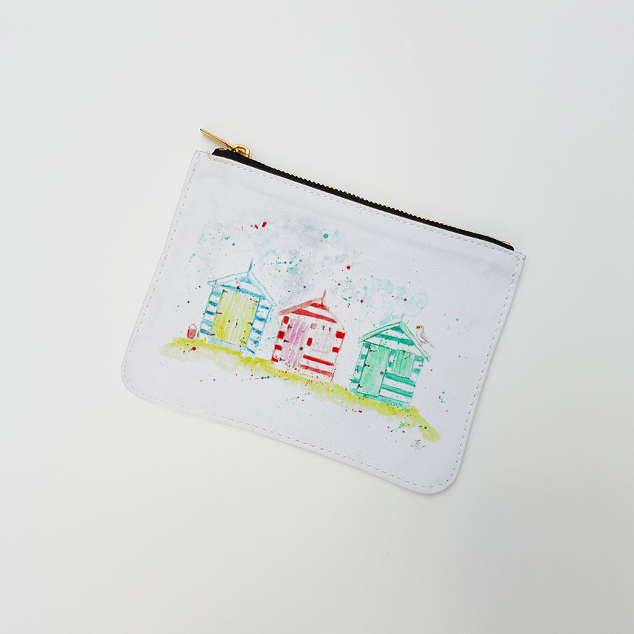 """Beach Huts"" Large Coin Pouch"