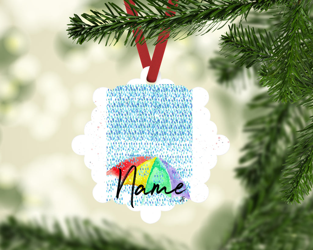 """British Summer"" Personalised Aluminium Christmas Decoration"