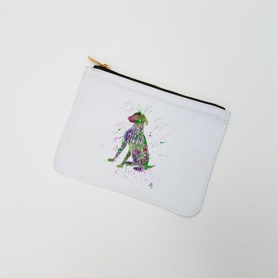 """Woof Green"" Large Coin Pouch"