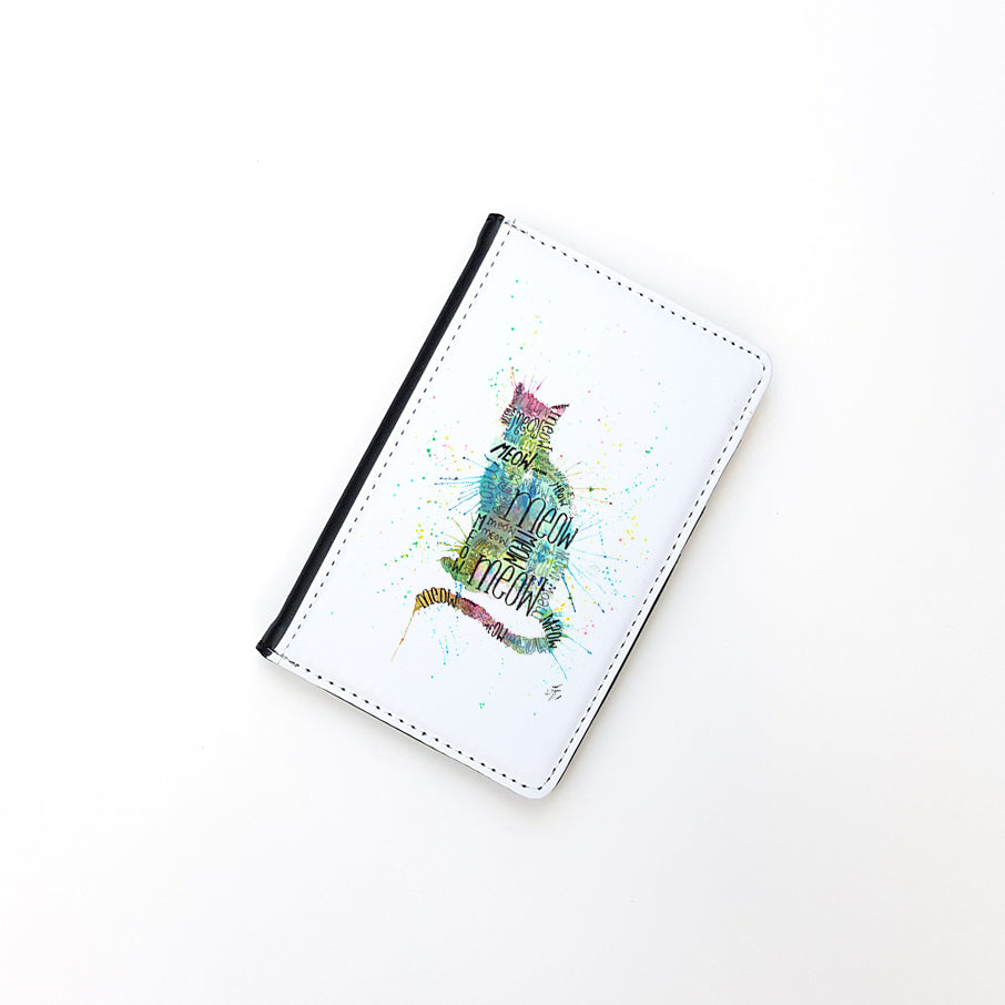 """Meow Blue"" Passport Holder"