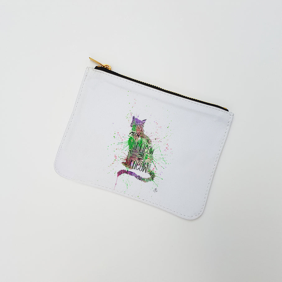 """Meow Green"" Large Coin Pouch"