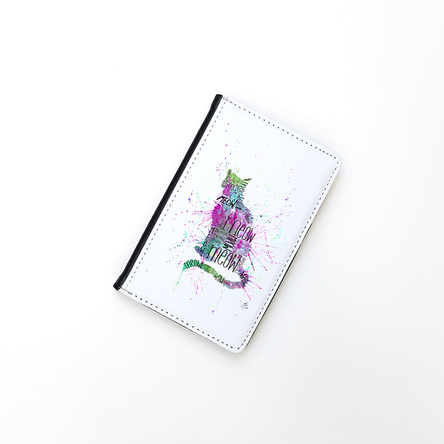 """Meow Pink"" Passport Holder"