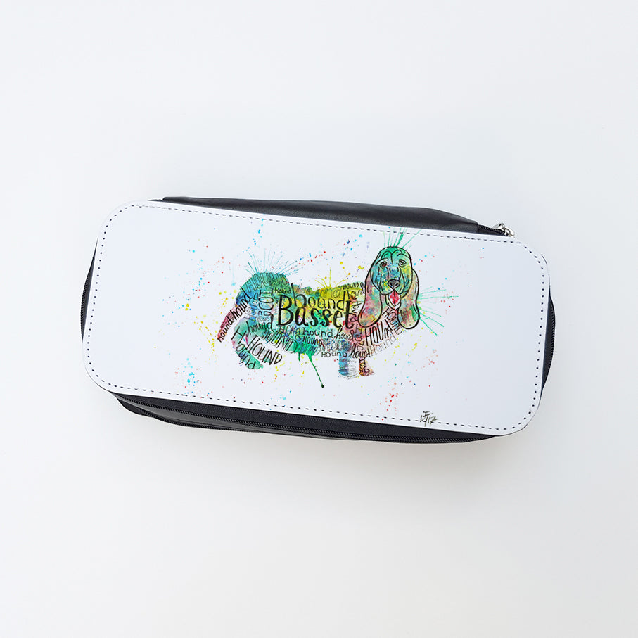 """Basset Splash"" Ladies Makeup Bag"