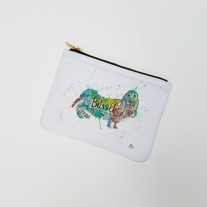 """Basset Splash"" Large Coin Pouch"