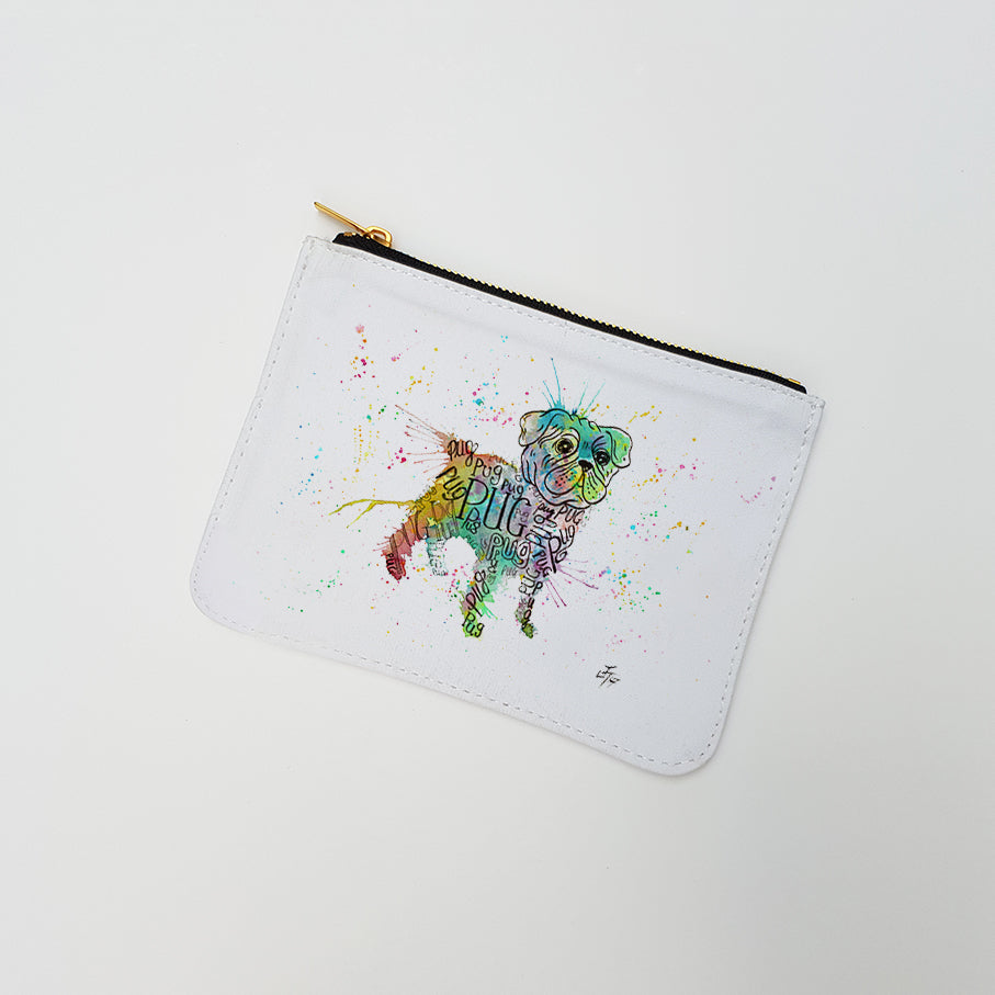 """Pug Splash"" Large Coin Pouch"