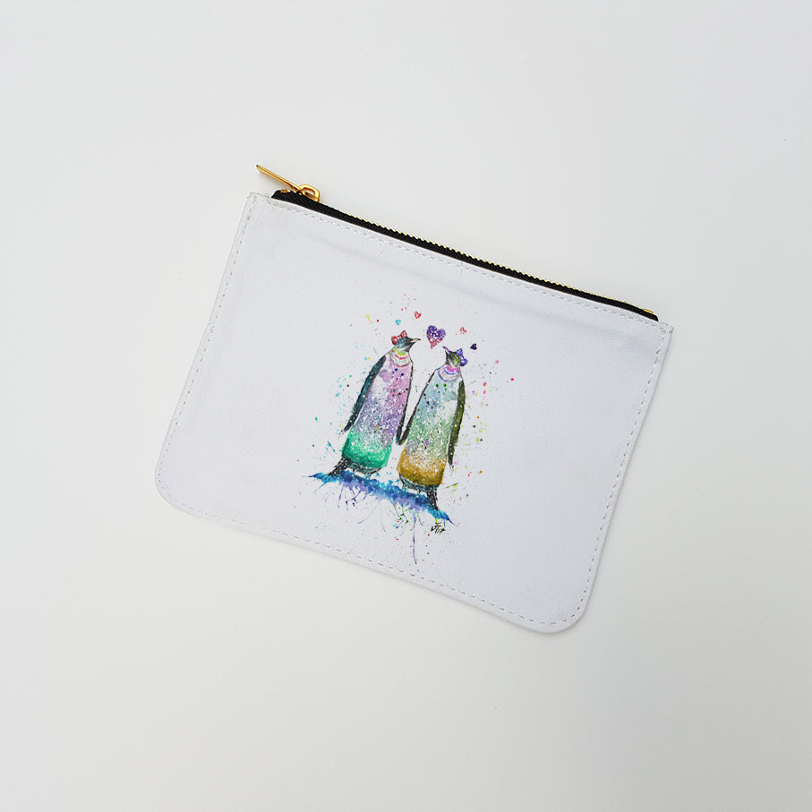 """Lady Penguins"" Large Coin Pouch"