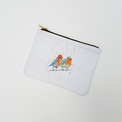 """Mr & Mrs Robin"" Large Coin Pouch"