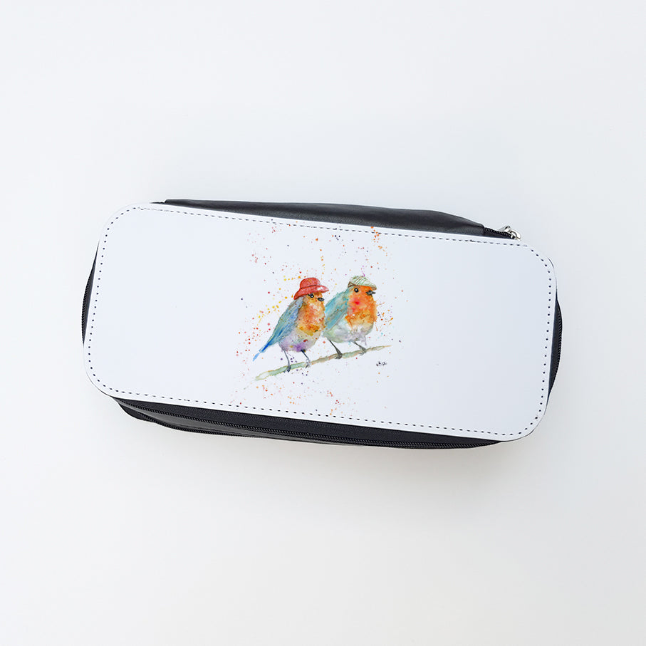 """Mr & Mrs Robin"" Ladies Makeup Bag"