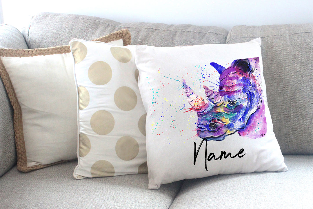 """Winston (Rhino)"" Personalised Cushion Cover"