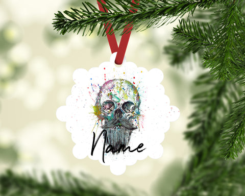 """Bebeard"" Personalised Aluminium Christmas Decoration"