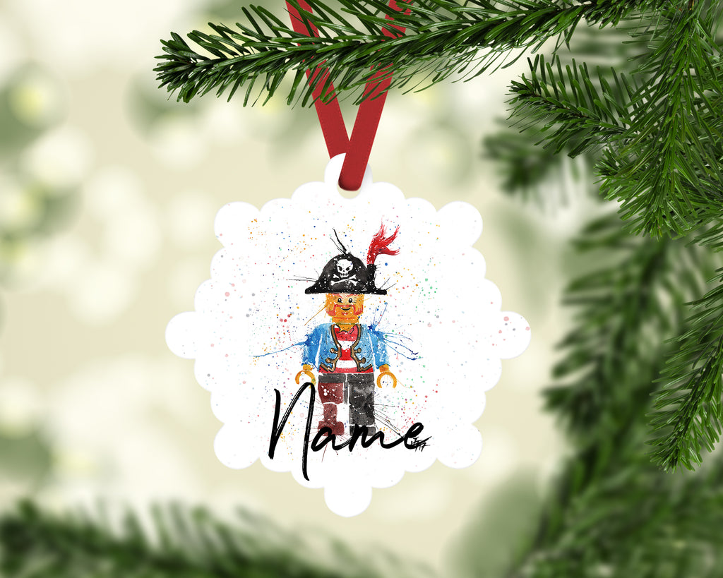 """Arggghhh Pirate"" Personalised Aluminium Christmas Decoration"