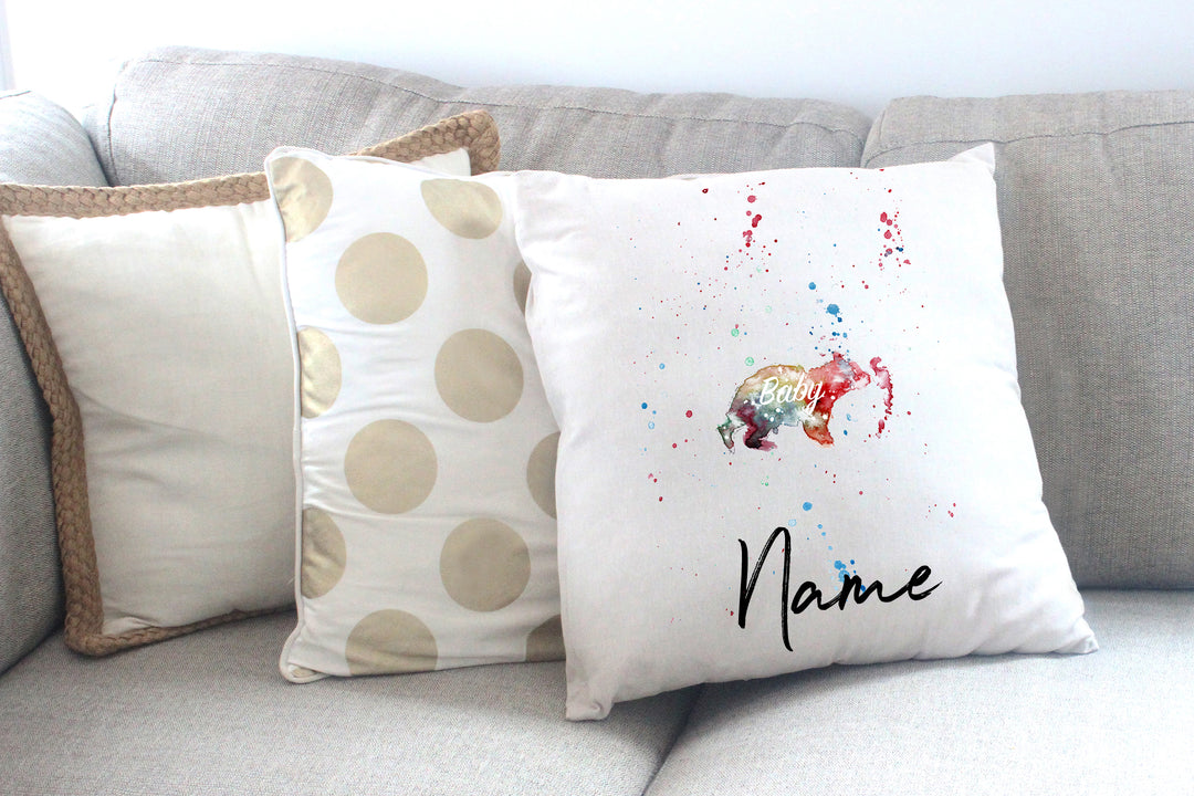 """Baby Bear"" Personalised Cushion Cover"