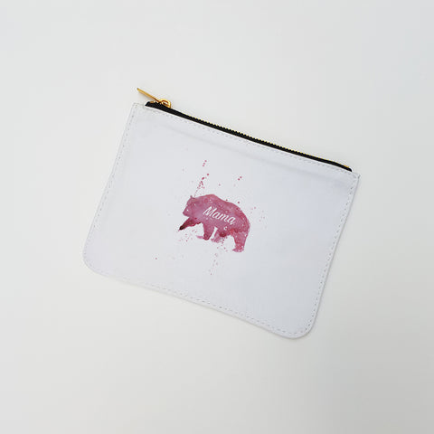 """Mama Bear"" Large Coin Pouch"