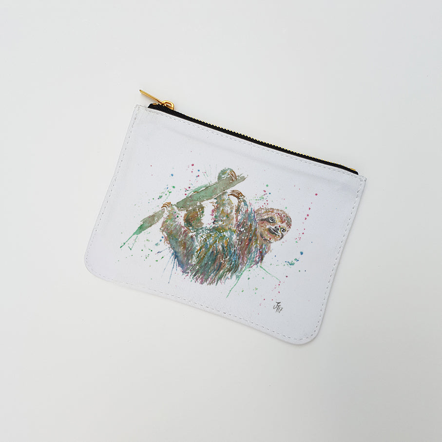 """Hey Mr Sloth"" Large Coin Pouch"