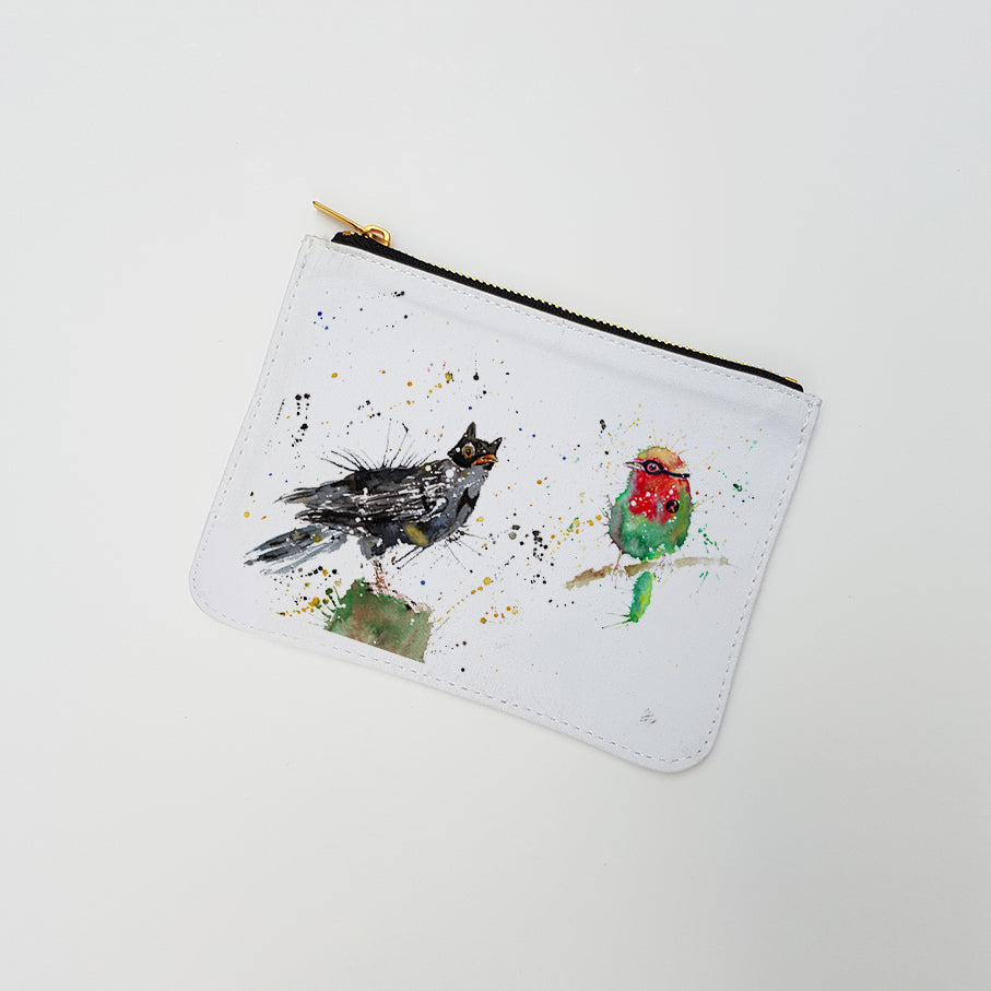 """Blackbird & Robin"" Large Coin Pouch"