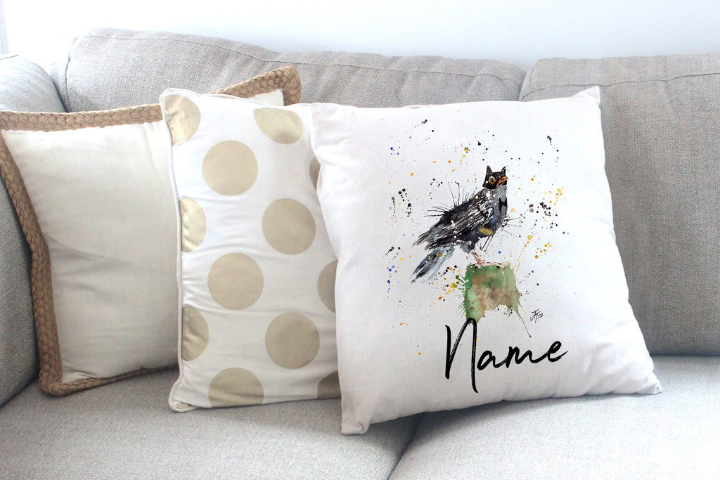 """Blackbird Batman"" Personalised Cushion Cover"