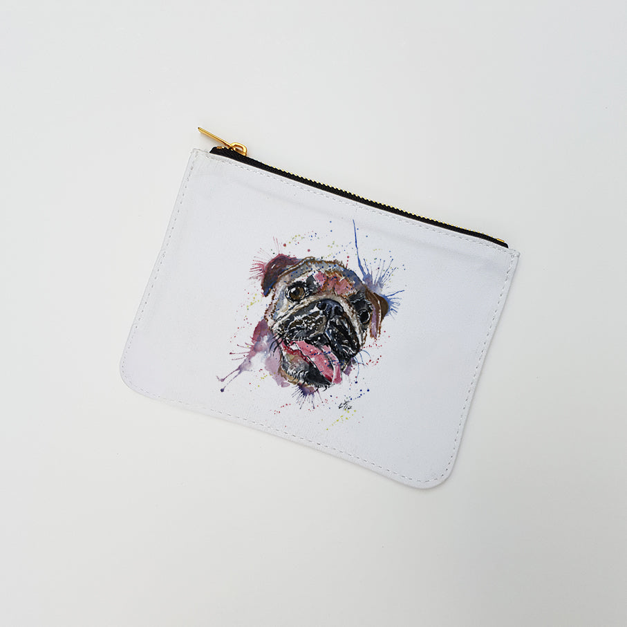"""Ronnie (Pug)"" Large Coin Pouch"