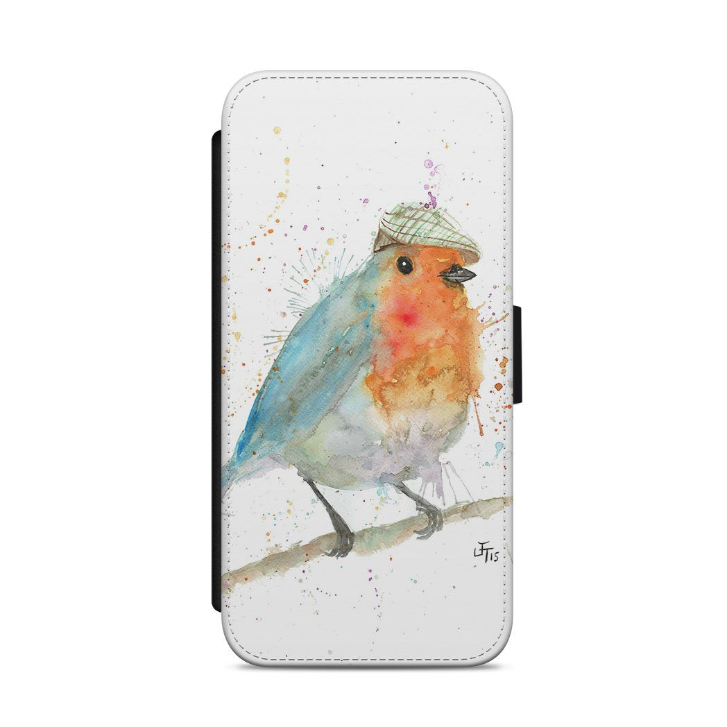 Mr Robin Flip Phone Case