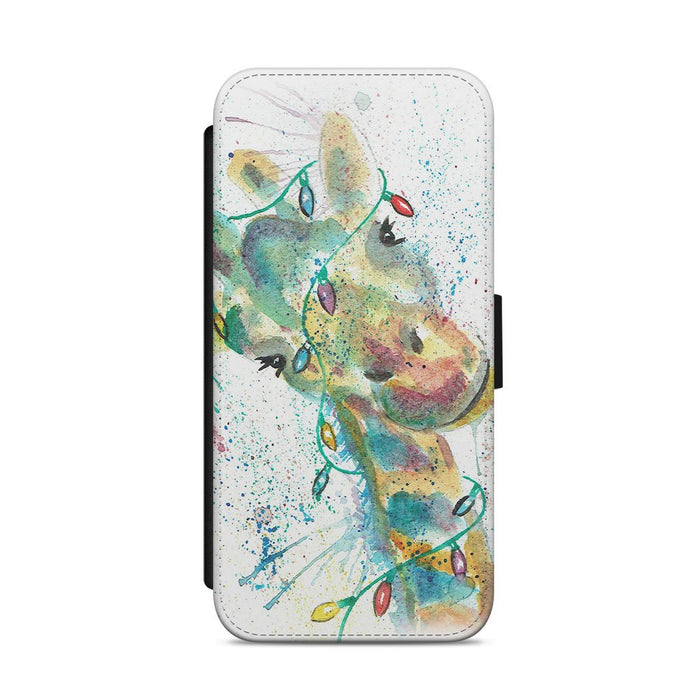 "Christmas ""Hattie"" Giraffe Flip Phone Case"