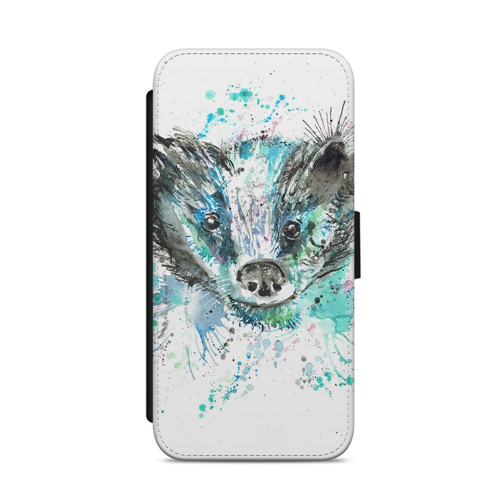 """Baz"" Badger Flip Phone Case"