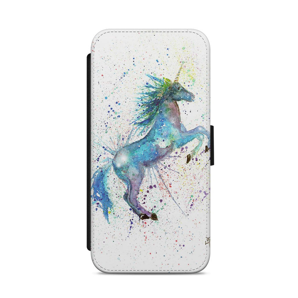Blue Unicorn Flip Phone Case