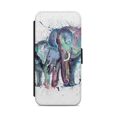 """Us"" Mummy & Babby Elephant Flip Phone Case"