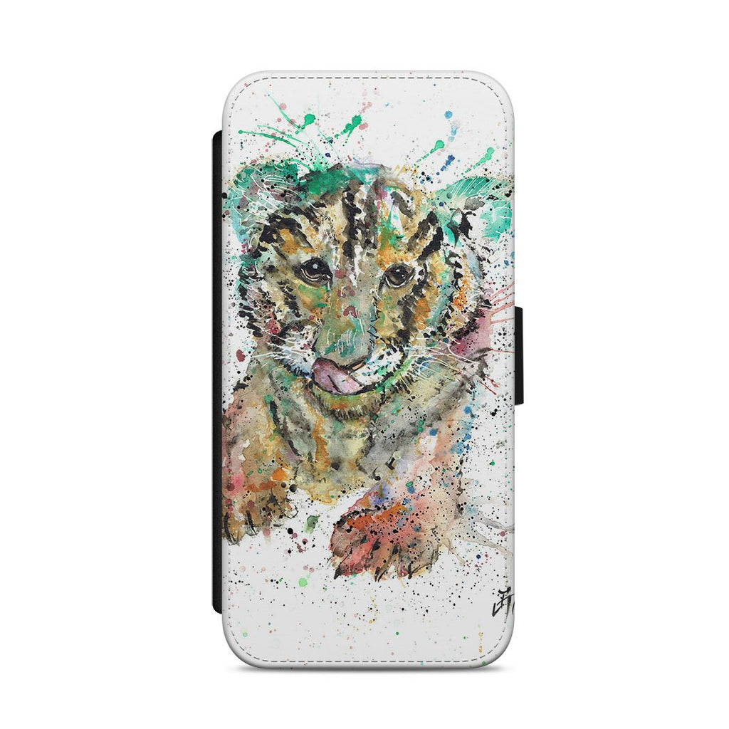 """Franklin"" Tiger Cub Flip Phone Case"