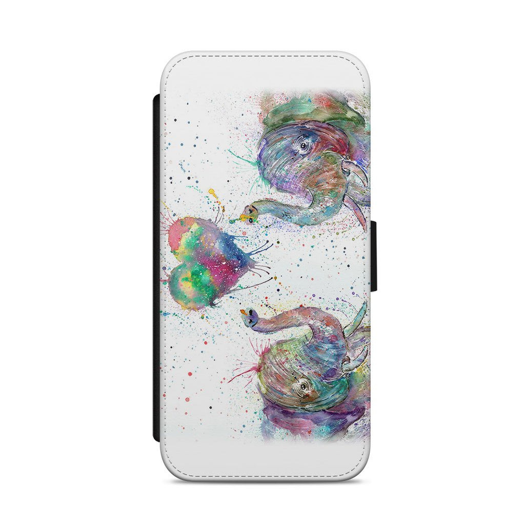 Romantic Elephants Flip Phone Case