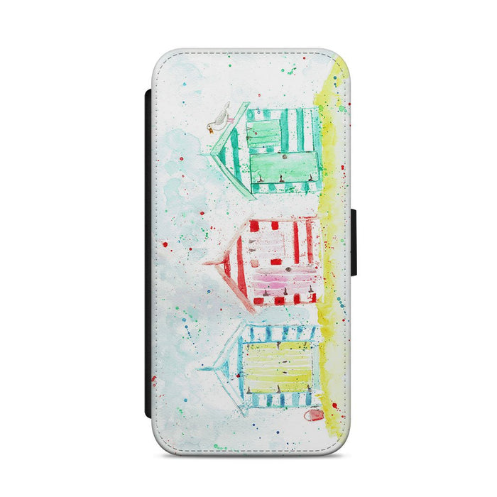 Beach Huts Flip Phone Case