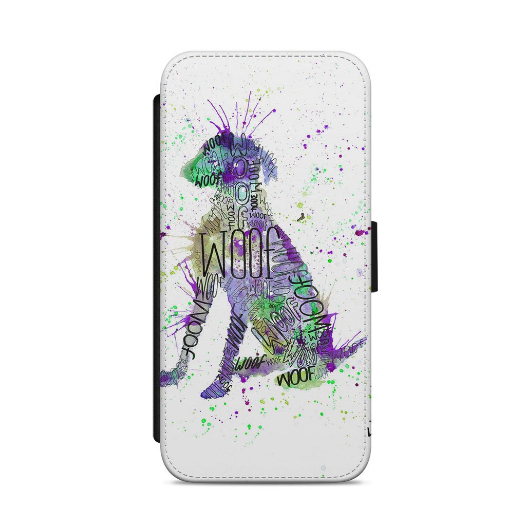 """Woof"" Purple Flip Phone Case"